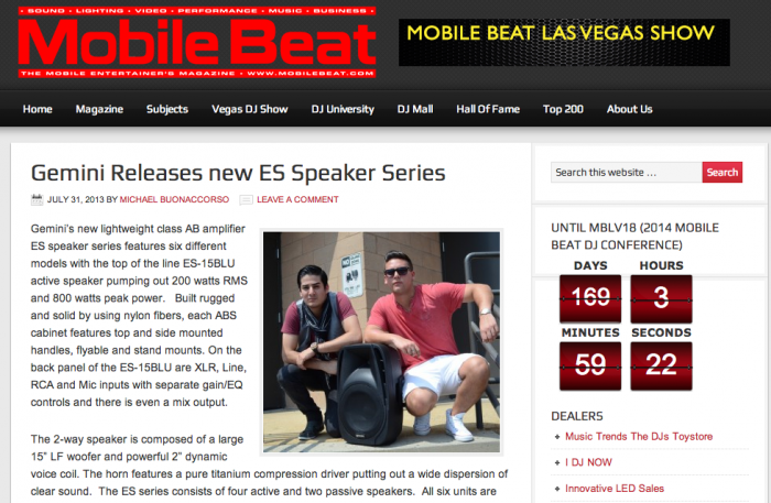 Gemini-Releases-new-ES-Speaker-Series-Mobile-Beat-Magazine-Online-In-Person-and-In-Print-For-Mobile-DJs-KJs-and-VJs1-700x457